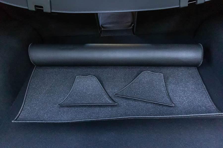 CX-5 KF系 カーボン調ラバー製ラゲッジマット パッケージ一覧