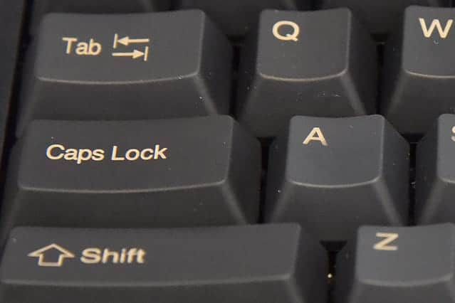 ホコリがきれいに取れたキーボード