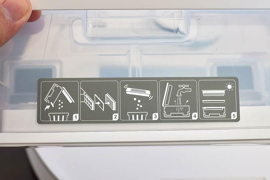 ダスト容器は水洗いできます