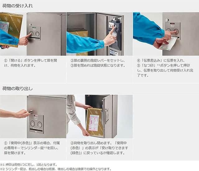 戸建住宅用宅配ボックス COMBO 使い方