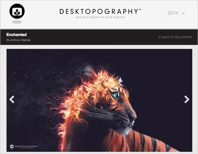 エザイナー向け壁紙サイト『DESKTOPOGRAPHY』