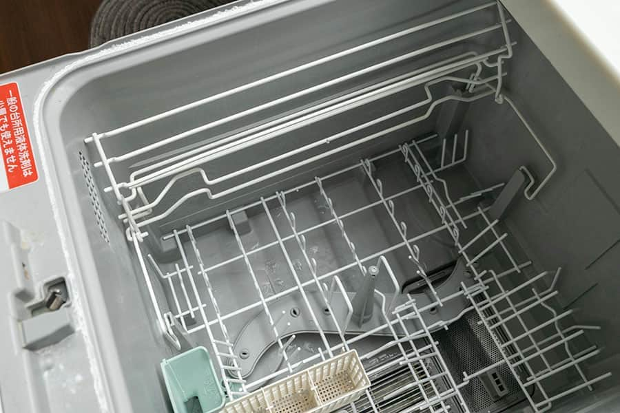 食洗機に上カゴを乗せて完了