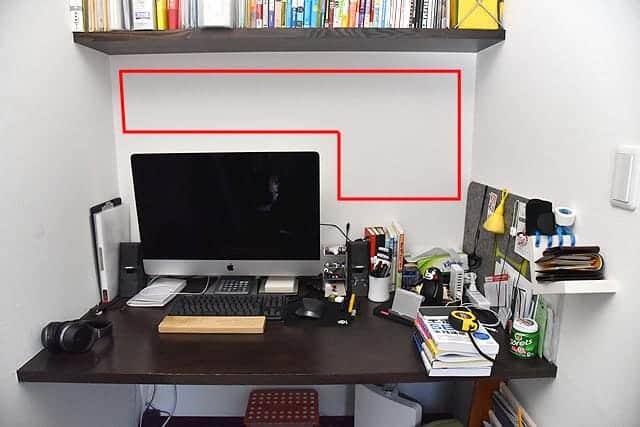 DIY前の机の上