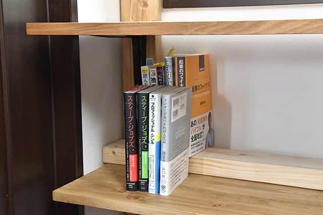 本棚が2段になった