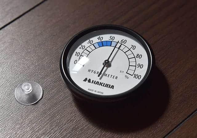 購入した湿度計