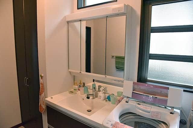 自宅の洗面台