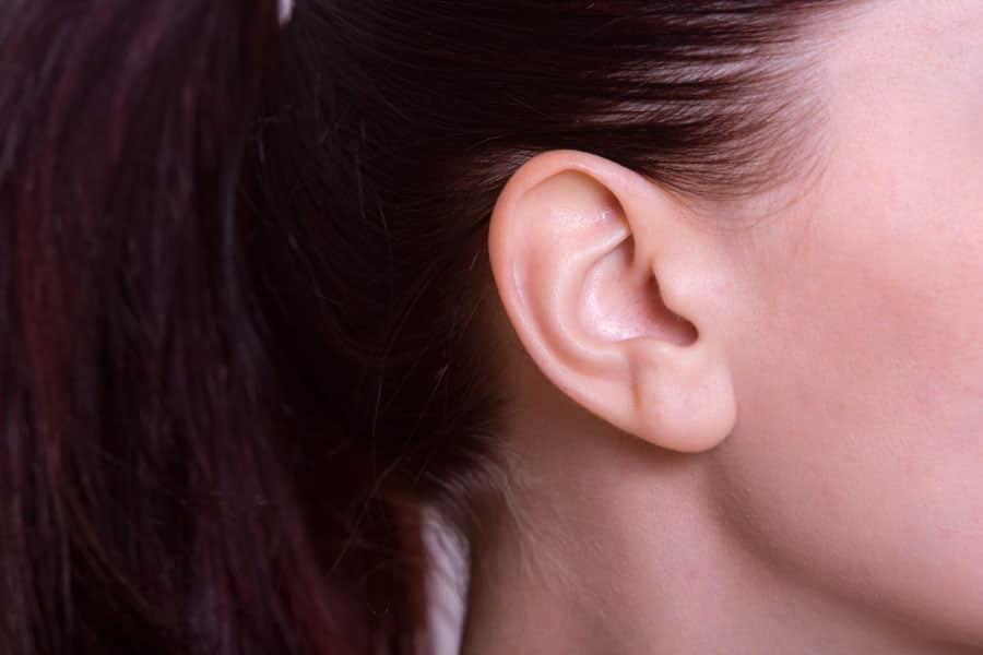 女性の耳の写真