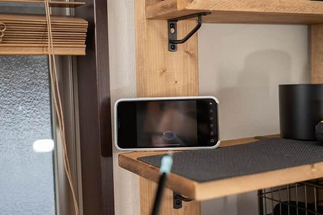 YCameraの画面にスコープに映った画面が表示される