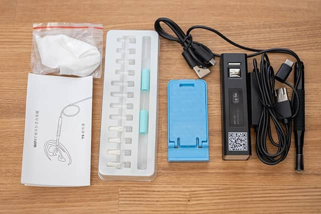 Punming 耳かき カメラ WIFI電子耳鏡 パッケージ一覧
