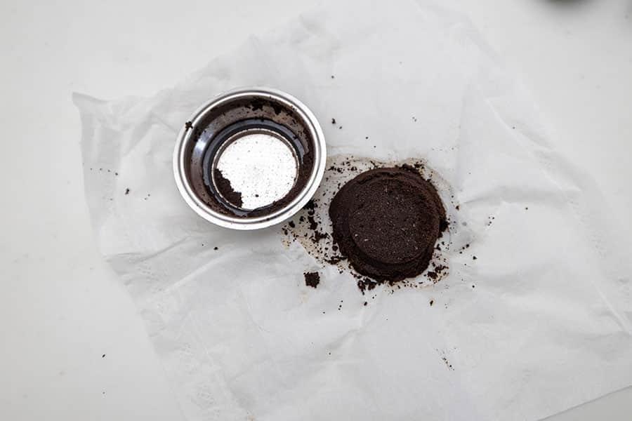 抽出後のコーヒー粉の掃除も簡単