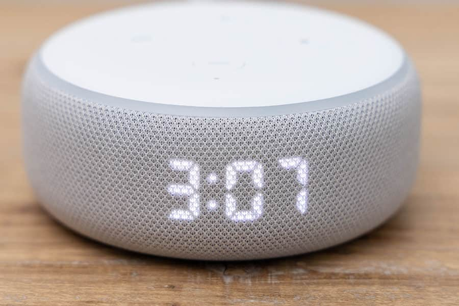 Echo Dot with ClockのLEDディスプレイ