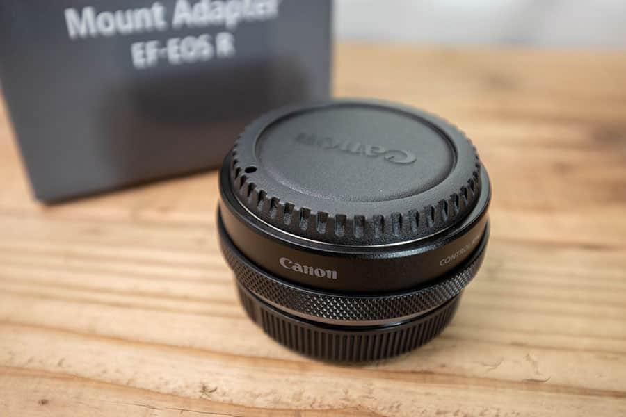 Canon EOS R6で累計生産本数1億4千万本以上のEFレンズを使うためにアダプタ購入