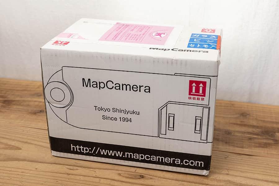 マップカメラの先取り交換で届いたダンボール
