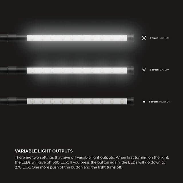elago USB LED LIGHT2 明るさ比較