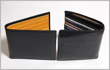 ETTINGERの折り財布とホワイトハウスコックスの折り財布