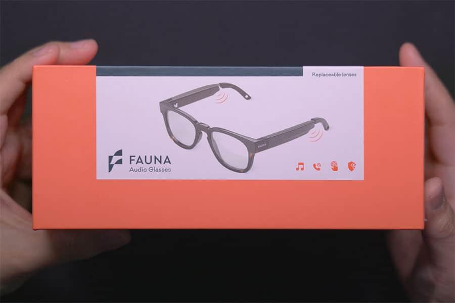 Fauna オーディオメガネのパッケージ
