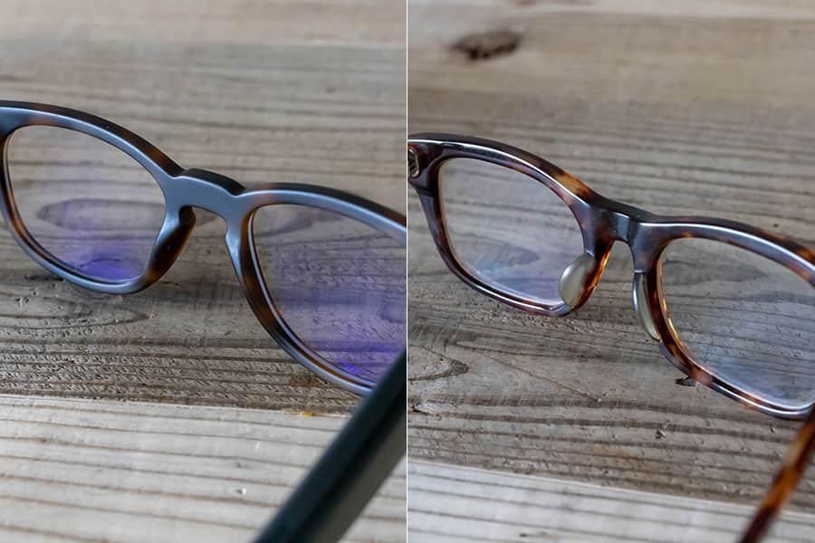 左がFaunaと右が日本のメガネ