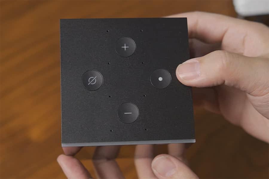 Cube上面には操作ボタン