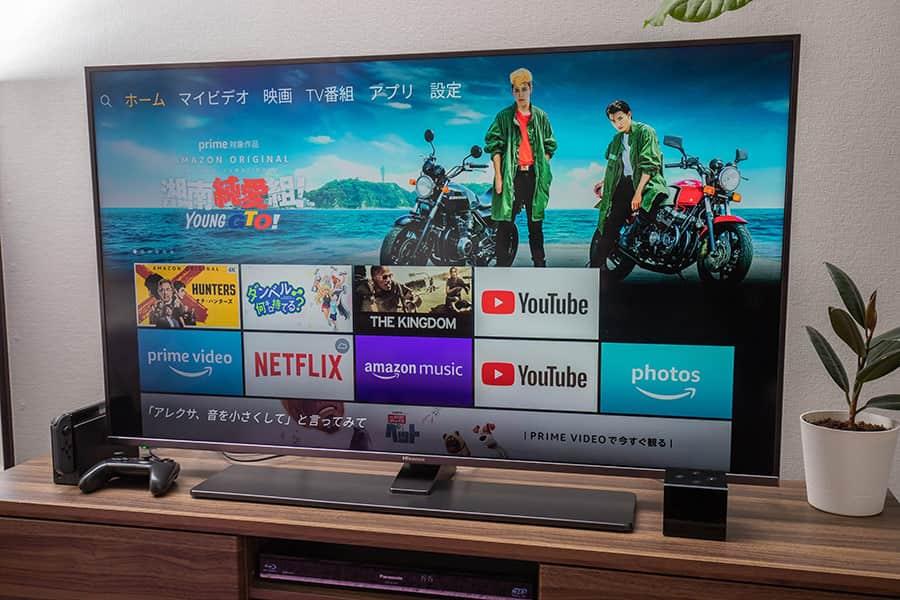 テレビとFire TV Cube