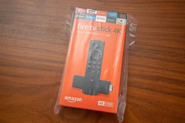 Amazonから届いたFire TV Stick 4Kの箱