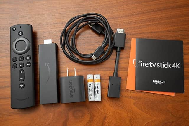Fire TV Stick 4Kの内包物
