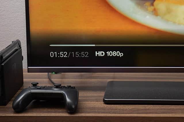 4K ULTRA HD作品の視聴中 HD 1080pと表示される