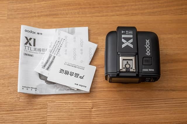 Godox X1T-S本体と説明書