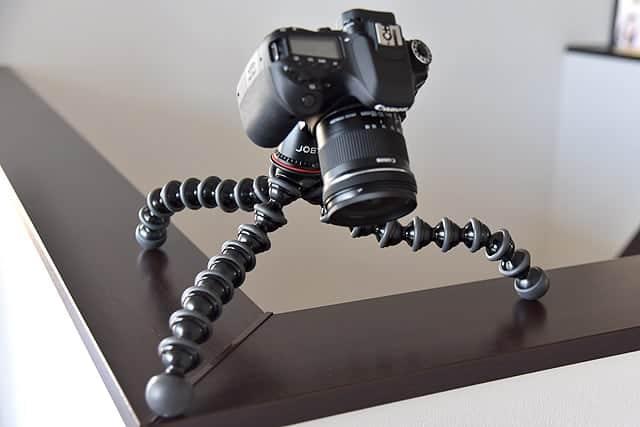 いろんなところにカメラを固定できる