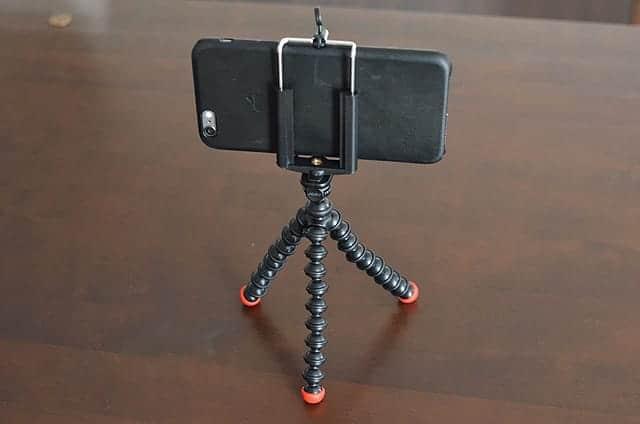 iPhone 6 Plusとゴリラポッド マグネティック 裏面