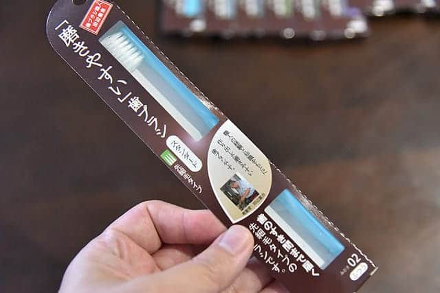 歯ブラシ職人 田辺重吉さんの写真が入った商品パッケージ