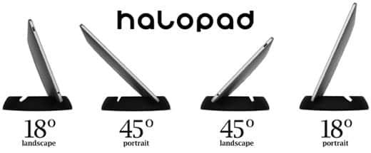 超絶欲しいiPadスタンド - halopad 角度は2パターン