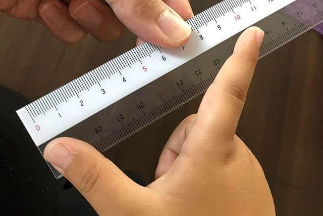 手にフィットするお箸サイズの測り方