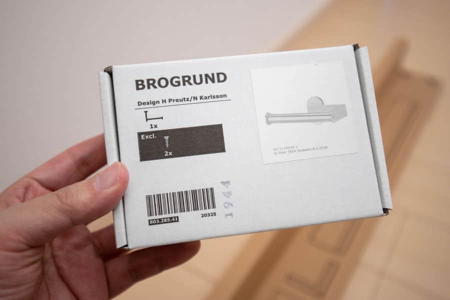 IKEA BROGRUND トイレットペーパーホルダー ステンレススチール