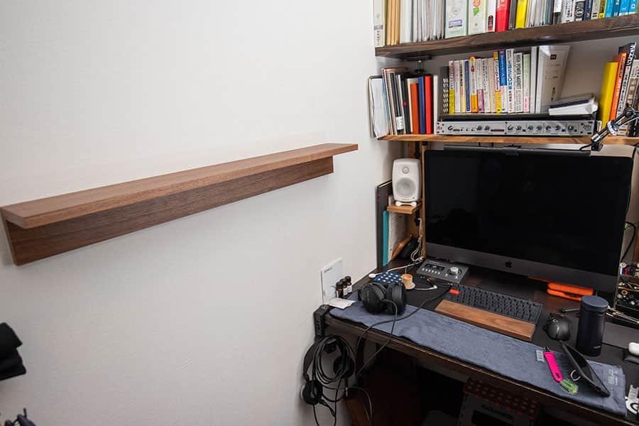 無印良品の壁にかけられる棚 設置完了