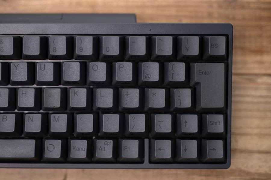 日本語配列のキーボード 右側のデザイン