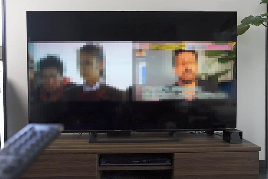 二画面機能が便利