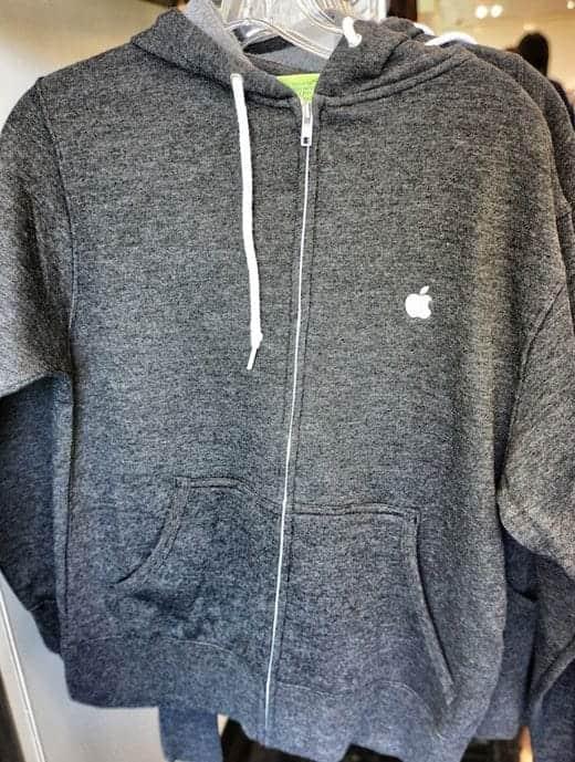 アップルの本社で販売されているパーカー