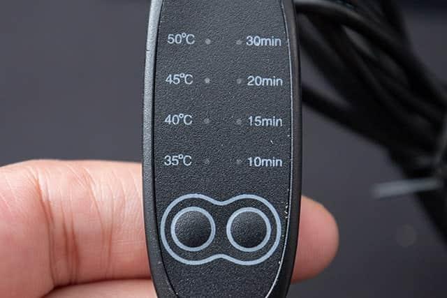 温度と時間を調節するコントローラー