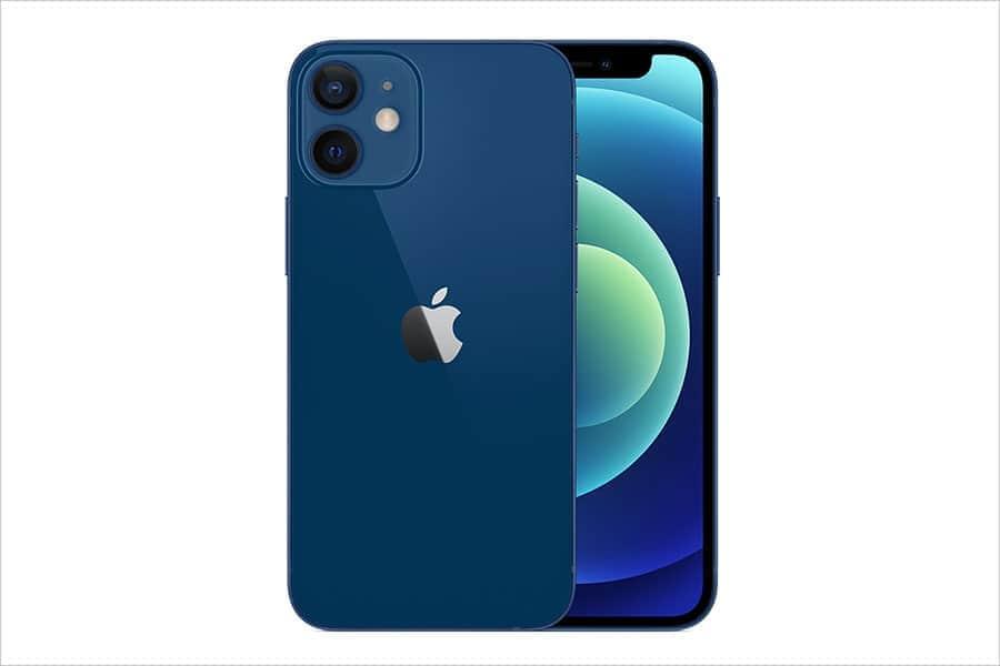 Apple公式サイトのiPhone 12 miniのブルー