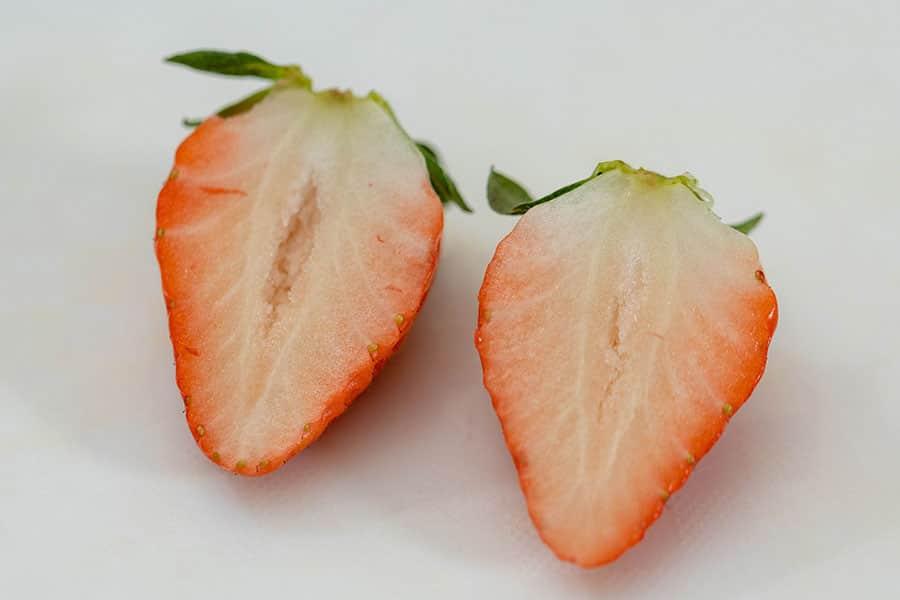 苺の断面図
