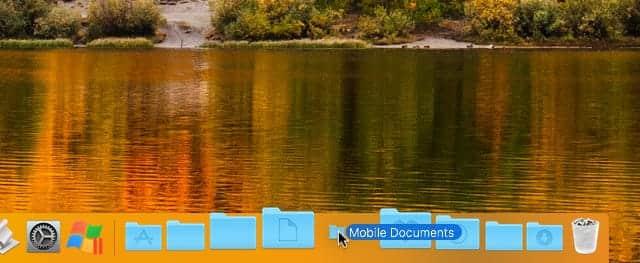 Mobile DocumentsフォルダをDockに移動