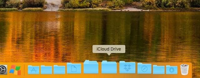 iCloud DriveフォルダをDockに追加完了