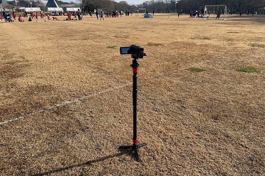 子どものサッカーの試合撮影用に持ち出したCOBRA2