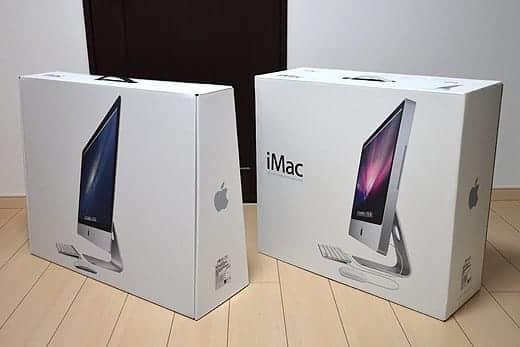 極薄iMac27インチ 24インチの箱と比較1