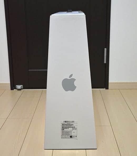 極薄iMac27インチ 外箱は台形!