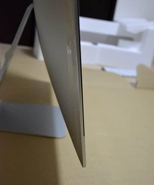 極薄iMac27インチ 本体横