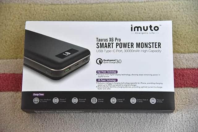 iMuto X6 Pro 30000mAh モバイルバッテリー 箱