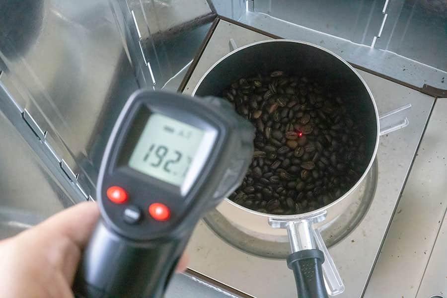 コーヒー焙煎用に赤外線温度計を使ってみた