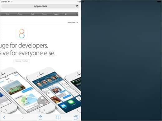 iOS 8 で採用されるかも知れない画面分割機能
