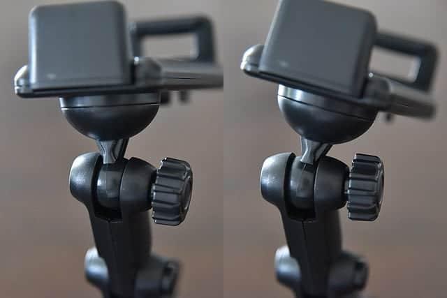調整ネジは左右にも多少動きます。